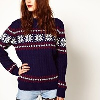Pop Boutique Snowflake Knitted Jumper at asos.com