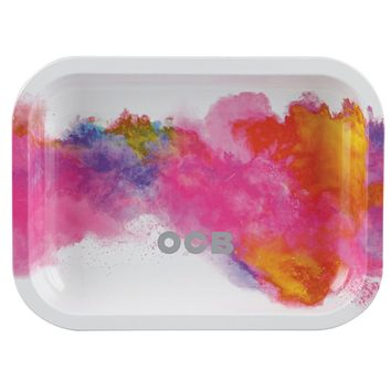 OCB Metal Rolling Tray - Holi White (Small)