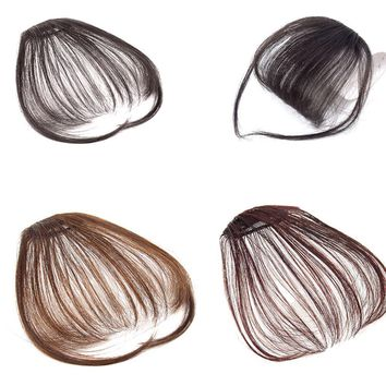 Hot Hair Clip Air Bangs Fake Hair Extension False Hair Piece Clip on Front Bang~