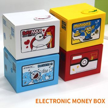 2018 High Quality Electronic Money Box  Pikachu Piggy Bank Steal Coin Automatiy For Kids GiftKawaii Pokemon go  AT_89_9