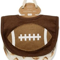 Mud Pie-Gameday Football Bibs, Brown