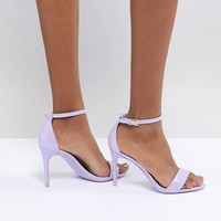ALDO Two Part Shoe with Ankle Strap in Lilac at asos.com