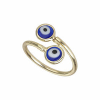 Turkish Eye Ring - Blue