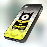 Despicable Minion Batman design for iPhone 4 or 4S Case / Cover