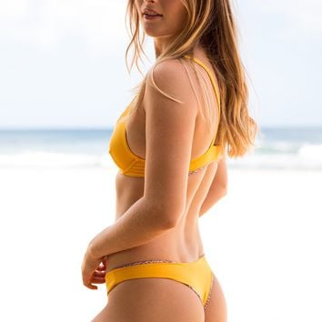 ACACIA Swimwear 2019 Ho'okipa Bottom in Tangelo