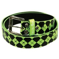 Fall Out Boy - Unisex-adult Fallgyle Logo Leather Belt Small Light Green