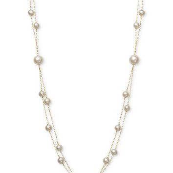 Belle de Mer Pink Cultured Freshwater Pearl (5mm, 7-1/2mm) 18
