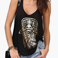 Black Extreme Racer Back Patterned Vest