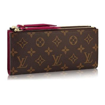 DCCK Louis Vuitton Monogram Canvas Adele Wallet Fuchsia Article: M61269 Made in France