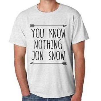 Men's Tee Shirt You Know Nothing Jon Snow Game Of Thrones