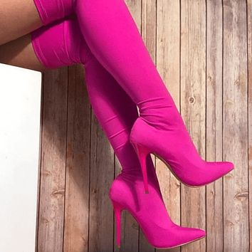 High Heel Stretch Pointed Toe Boots