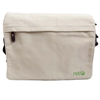 Mato organic canvas cross body bag with front pocket