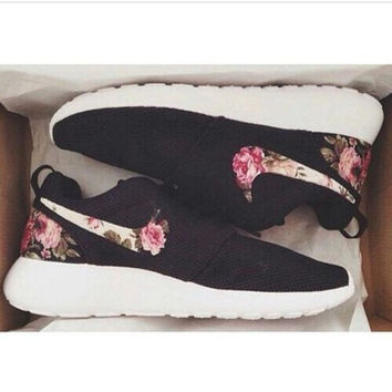 NIKE Fashion Casual Flower Print Running Sport Shoes Sneakers