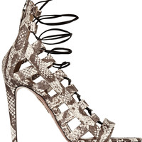 Aquazzura - Amazon elaphe sandals