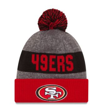 San Francisco 49ers New Era Heather Gray 2016 Sideline Official Sport Knit Hat
