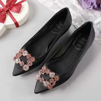 Roger Vivier Women Fashion Casual Pointed Toe High Heels Shoes