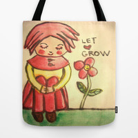 let love grow Tote Bag by helendeer