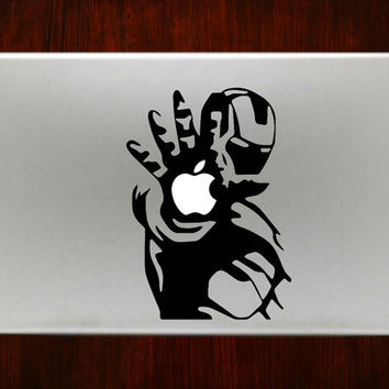 """Ironman  Shooting m376 Decal Sticker Vinyl For Macbook Pro Air Retina 13"""" 15"""" 17"""" Inch Laptop Cover"""