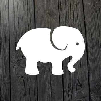 Baby elephant decal Elephant car decal Elephant wall decal Elephant nursery Elephant baby Elephant tapestry Elephant decor Nursery decal