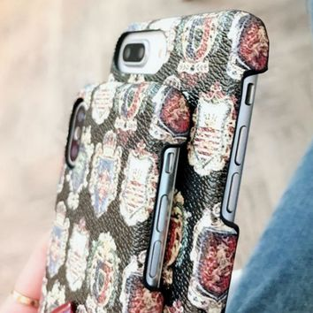 ac NOVQ2A DG dolce & gabbana iphone6 leather high-end iPhone 8X7plus luxury mobile phone case
