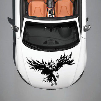 TRIBAL EAGLE BIRD WINGS ART DESIGN HOOD CAR VINYL STICKER DECALS GRAPHICS SV4911