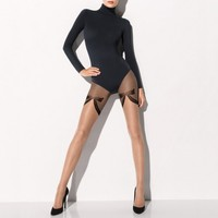 Buy Wolford luxury lingerie - Wolford Romance Tights  | Journelle Fine Lingerie