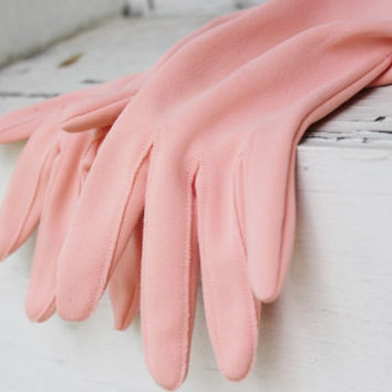 Peach Gloves, Wrist Gloves Gathered rouched scrunch