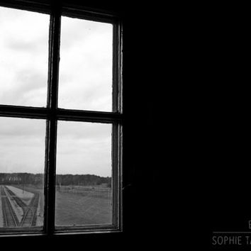 Windows print, window canvas. Black and white photography, abstract picture, architecture, monochromatic, fine art photography, framed print