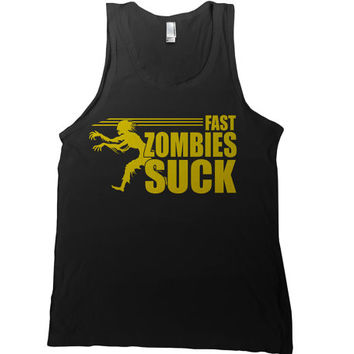 Fast Zombies Suck Mens Tank Top - classic zombie t-shirt movies walking dead t shirt old school movie tshirt daryl dixon teerick grimes