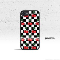 Cherry Checkered Phone Case Cover for Apple iPhone iPod Samsung Galaxy S & Note