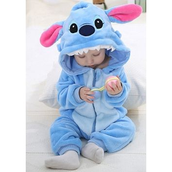 Newborn baby rompers Spring Autumn Baby boy clothes Jumpsuit  Baby Girl animal Rompers Baby Warm Romper Newborn Clothes pajamas