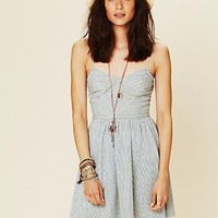 Free People Denim Bustier Dress