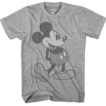 Disney Giant Mickey Mouse Disneyland World Tee Funny Humor Adult Mens Graphic T-Shirt (Large)