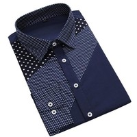 Starfield Polka Dot Dress Shirt for Men
