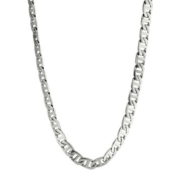 Stainless Steel Mariner Link Chain Necklace, 30""