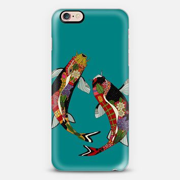 koi teal blue iPhone 6s case by Sharon Turner | Casetify