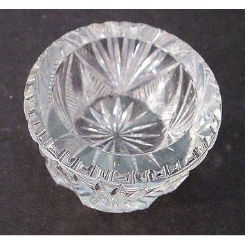 ABP  American Brilliant Period hand Cut Glass salt dip
