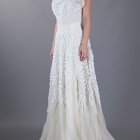 MERCHANT ARCHIVE VINTAGE embroidered gown