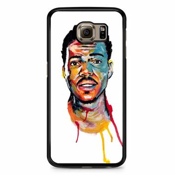 Acrylic Painting Of Chance The Rapper Samsung Galaxy S6 Edge Plus Case