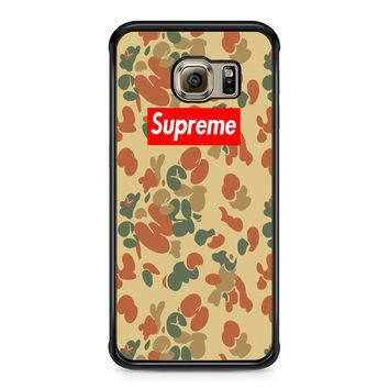 SUPREME CAMO VERTICAL Samsung Galaxy S6 Edge Case