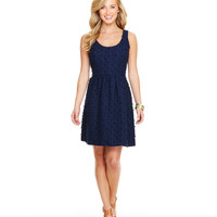 Nautical Scallop Fit N Flare Dress