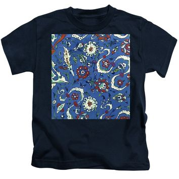 An Ottoman Iznik Style Floral Design Pottery Polychrome, By Adam Asar, No 15a - Kids T-Shirt