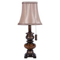Small Mottled Brown Accent Lamp by Stylecraft