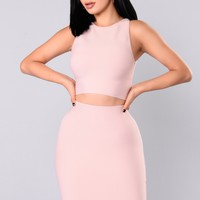 Plain And Simple Crop Top - Mauve