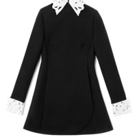 Long Sleeved Dress With Embroidered Collar And Cuffs by Valentino - Moda Operandi