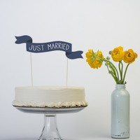 Cake Banner No. 2 - Common Phrases - Wedding Cake Topper