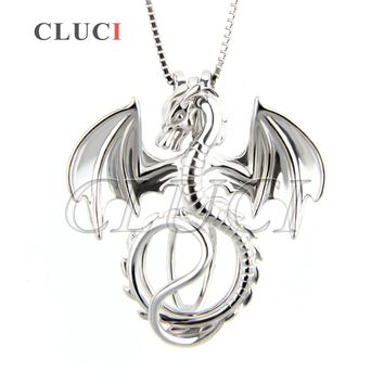 CLUCI Jewelry Dragon Cage Pendant Lucky Amulet For Women Men, 925 Sterling Silver Necklace Pendant