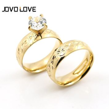 Promotion Sale Quality Gold Rings for Women Men Jewelry unique Carved Pattern Design Wedding Rings for Couples