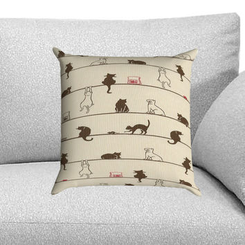 Cats Custom Pillow Case for One Side and Two Side