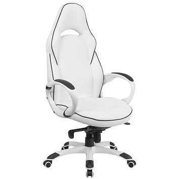 High Back Vinyl Executive Swivel Office Chair with Trim
